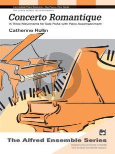 Rolin Concerto Romantique for Solo Piano with Piano accompaniment (3 Movements)