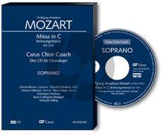 Mozart Krönungsmesse KV 317 SATB soli-SATB-Orchester Bass Chorstimme CD (Carus Choir Coach) (Helmut Rilling)