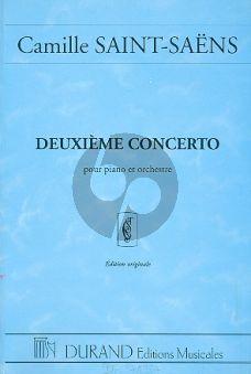 Saint-Saens Concert No.2 Op.22 Piano et Orchestre (Partition de Poche)