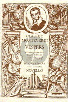 Monteverdi Vespers Soli-Choir-Organ-Orchestra Vocal Score
