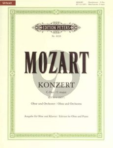 Mozart Konzert C-dur KV 314 (285d) Oboe-Klavier (Andreas Schenck) (Urtext) (Peters)