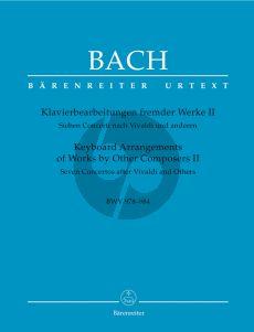 Bach Klavierbearbeitungen fremder Werke Vol.2 (7 Konzerte nach Vivaldi und anderen) (BWV 978 - 984) (Karl Heller) (Barenreiter-Urtext)