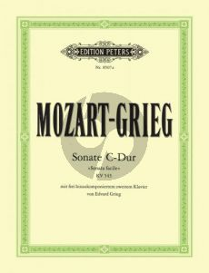 Mozart Sonate C-major KV 545 (with 2nd Piano composed by Grieg)