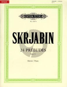 Scriabin 24 Preludes Op.11 Klavier (Gunter Philipp)