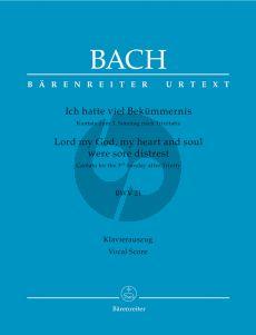 Bach Kantate BWV 21 Ich hatte viel Bekummernis Vocal Score (Barenreiter-Urtext) (germ./engl.)