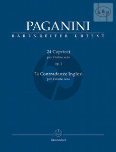 Paganini 24 Capricci Op.1 - 24 Contradanze Inglesi Violine solo (edited by Daniele Macchione)