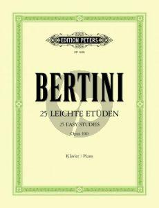 Bertini 25 Leichte Etuden Op.100 Piano (Etüden ohne Oktaven) (Adolf Ruthardt)