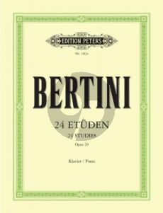 Bertini 24 Etuden Op.29 Piano (Adolf Ruthardt) (Peters)