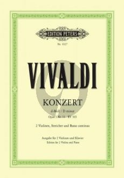 Vivaldi Concerto d-minor Op.3 No.11 (RV 565) 2 Violins-Strings-Bc (piano red.) (edited by Paul Klengel)