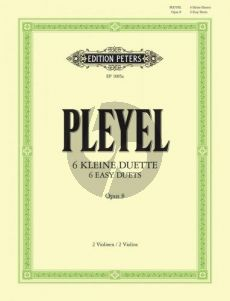 Pleyel 6 kleine Duette Op.8 2 Violinen (Herrmann) (Grade 2) (Peters)