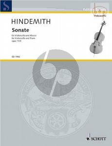 Hindemith Sonata Op.11 No.3 Violoncello and Piano