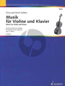 Doflein Musik Vol.1 Violine und Klavier (50 small Pieces for Beginners)