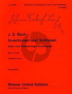 Bach Inventionen-Sinfonien (2 und 3 Stimmig) BWV 772 - 801 Klavier (Ulrich Leisinger)