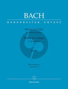 Bacdh Messe G-dur BWV 236 (Lutherische Messe) (KA.) (Urtext der Neuen-Bach Ausgabe)