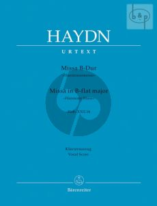 Haydn Messe B-dur (Harmonie-Messe) Hob.XXII:14 Soli-Choir-Orchestra (Vocal Score) (edited by Friedrich Lippmann)