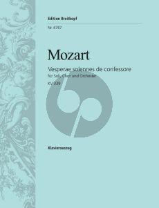 Mozart Vesperae solennes de Confessore KV 339 (Soli-Choir-Orch.) Vocal Score (Breitkopf) (edited by Ulrich Haverkampf)