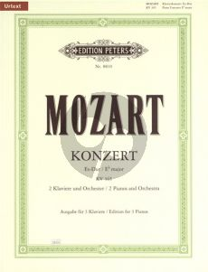 Mozart Concerto E-flat major KV 365 (2 Piano's-Orch.) (red. 3 piano's)
