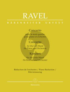 Ravel Concerto for the Left Hand for Piano and Orchestra (piano red.)