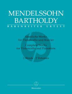 Mendelssohn Sämtliche Werke (Band 1-2) Violoncello-Klavier (Larry R. Todd) (Barenreiter-Urtext)