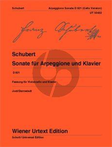 Schubert Sonata for Arpeggione D.821 op. posth. Violoncello and Piano (Jost/Darmstadt) (Wiener-Urtext)