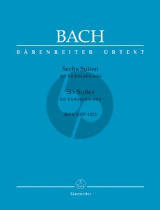 Bach Six Suites for Violoncello solo BWV 1007-1012 (Andrew Talle (Urtext of the New Bach Edition - Revised) (paperback)