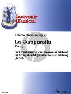Rodriguez La Cumparsita Streichquartett (mit Kontrabass ad lib.) (Part./Stimmen) (arr. Wolfgang Birtel)