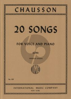 Chausson 20 Songs for Low Voice (Sergius Kagen)