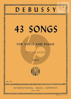 Debussy 43 Songs High (edited by Sergius Kagen)
