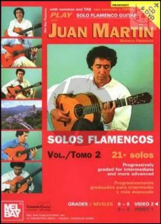 Martin Solos Flamenco Vol.2 for Guitar with TAB (21 + Solos Progressively Graded for Intermediate and More Advanced Player) (Bk-CD-DVD)