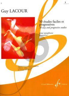 Lacour 50 Etudes Faciles et Progressives Vol. 1 pour Saxophone