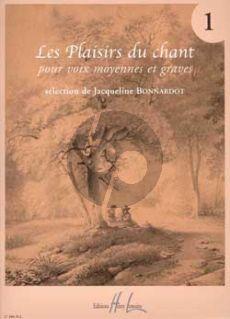 Plaisirs du Chant Vol.1 (Voix Moyennes et Graves) (Bonnardot)