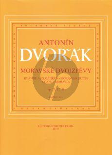 Dvorak Klange aus Mahren (Moravian Duets) Op.20 - 32 - 38 for 2 Voices[SA]-Piano (czech/german/english)