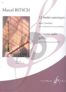 Bitsch 12 Etudes canoniques 2 Hautbois (avec collaboration de Gerard Perreau)