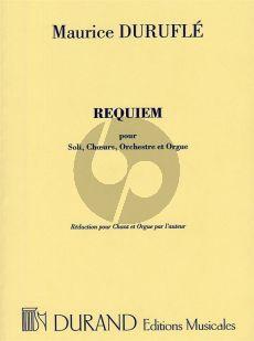 Durufle Requiem Op.9 (Soli-Choeur-Orchestre et Orgue) (Reduction pour Chant et Orgue par l'auteur)