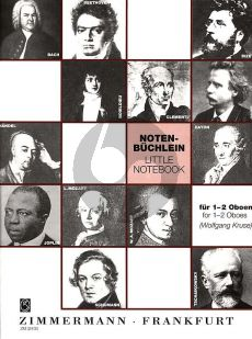 Album Notenbüchlein fur 1-2 Oboen (herausgegeben von Wolfgang Kruse)