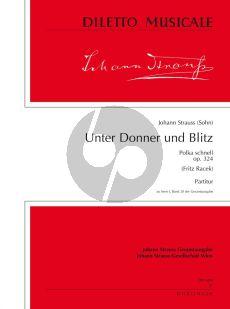 Strauss Unter Donner und Blitz Op.324 Orchester Partitur (Fritz Racek)
