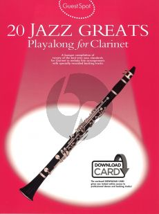 Guest Spot 20 Jazz Greats Playalong for Clarinet (Bk-Download Card) (interm.)