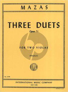 Mazas 3 Duets Op.71 2 Violas (Pagels)