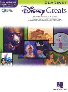 Disney Greats for Clarinet (15 Songs) (Bk-Audio Access Code) (Grade 2-3)