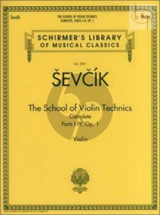 The School of Violin Technics Op.1