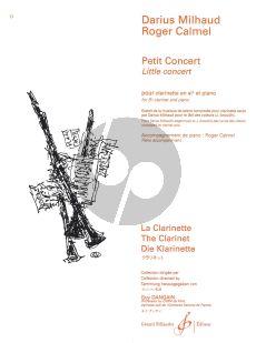 Milhaud Petit Concert Op.192 for Clarinet in Bb and Piano (extrait de Musique de Scene 'Le Bal des Voleurs') (Acc. Roger Calmel)
