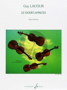 Lacour 22 Dodecaprices pour Violon (Difficile[8])