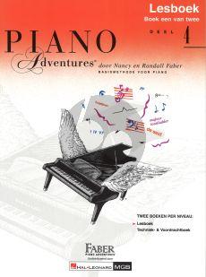 Faber Piano Adventures Lesboek 4 Boek (Ned)