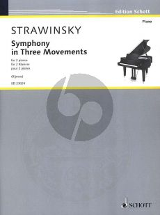 Strawinsky Symphony in Three Movements for 2 Piano's (transcr. by Richard Rijnvos) (after the original version for orchestra) (1945)