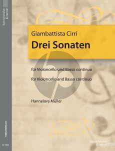 Cirri 3 Sonaten Violoncello-Bc (Hannelore Muller)