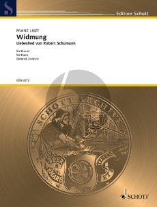 Schumann Widmung Klavier (transcr. Franz Liszt) (August Schmid-Lindner)