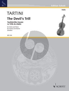 Tartini Teufelstriller-Sonate g-moll Violine und Klavier (Fritz Kreisler)