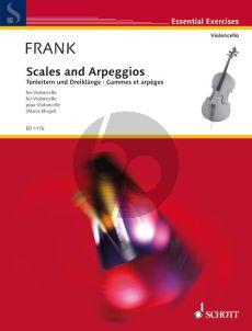 Frank Scales & Arpeggios Violoncello (Tonleitern & Dreiklange) (Maria Kliegel)