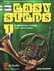 Kastelein Easy Steps Vol.1 Hoorn in F (Bk- 3 CD's-DVD-Rom)