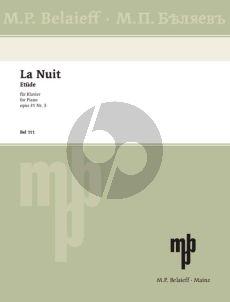 """Glazunov Etude Op.31 No.3 """"La Nuit"""" Piano solo"""